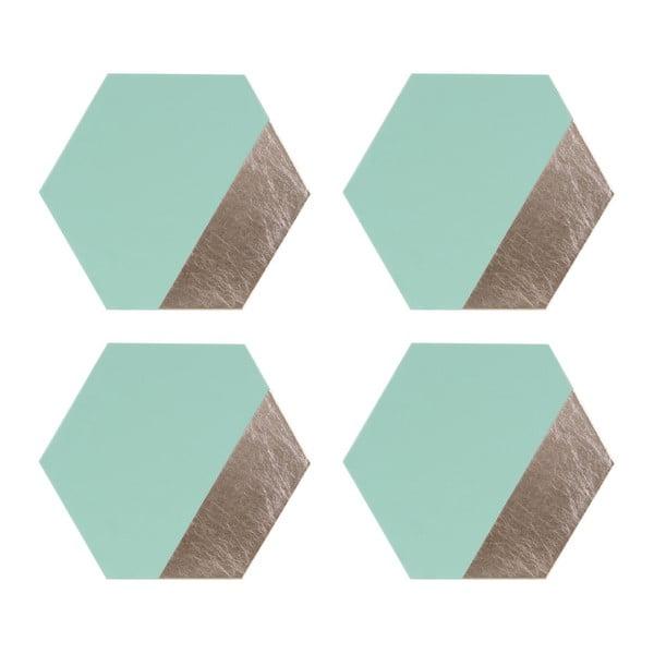 Set 4 suport farfurii din piele Premier Housewares Jade, 30 x 26