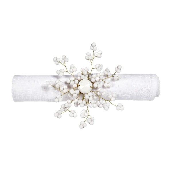 Set 6 prstenů na ubrousky Snow