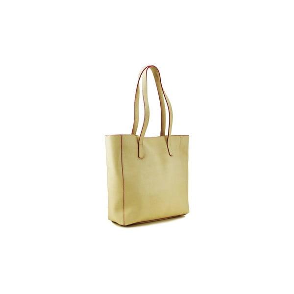 Kožená kabelka Cervo Beige/Fuchsia