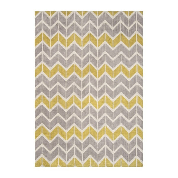 Koberec Asiatic Carpets Chevron Lemon Grey, 120x170 cm