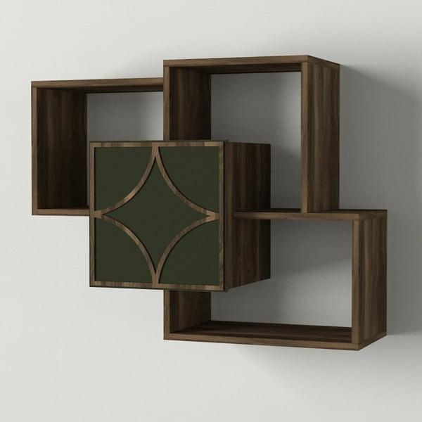 Arco fali polcos elem diófa dekorral