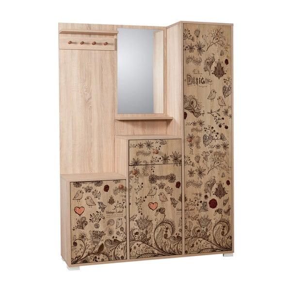 Kardelen Dekor barna tükrös előszoba szekrény, magasság 188 cm