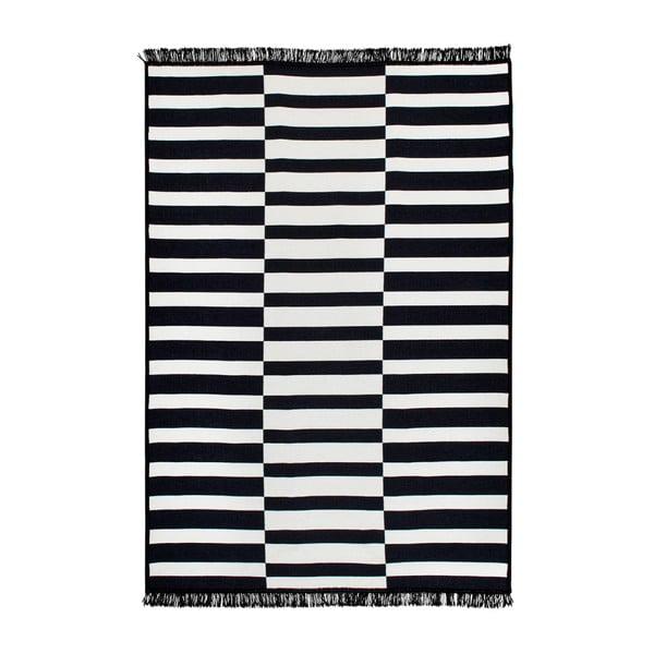 Černo-bílý oboustranný koberec Poros, 80 x 150 cm