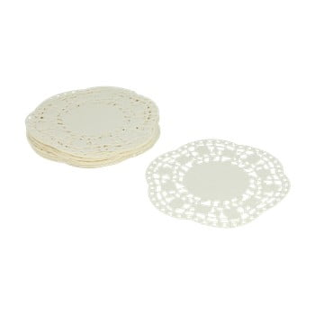 Set 40 suporturi din hârtie pentru prăjiturele Metaltex, ø 11 cm, alb de la Metaltex