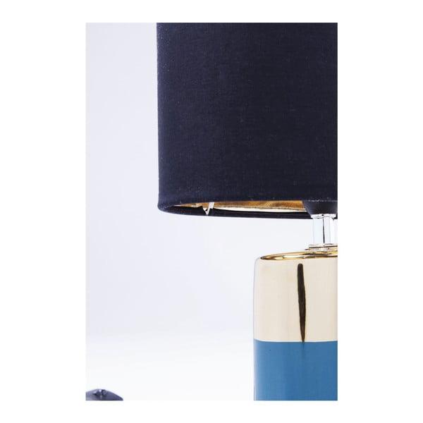 Modrá stolní lampa Kare Design Zelda, výška 32,5 cm