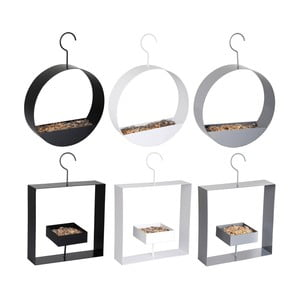 Sada 6 kovových závěsných krmítek pro ptáčky Esschert Design Sweetie