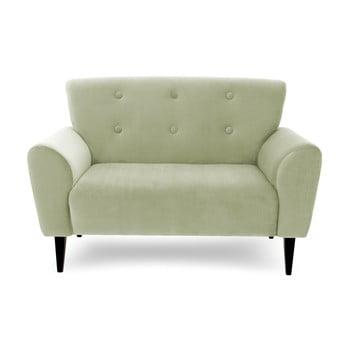 Canapea cu 2 locuri Vivonita Kiara, verde deschis de la Vivonita