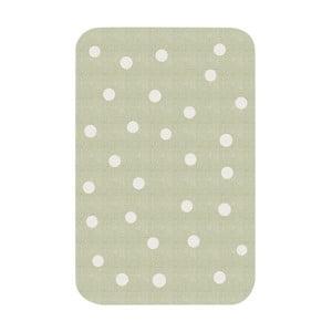 Dětský zelený koberec Zala Living Dots, 67x120cm