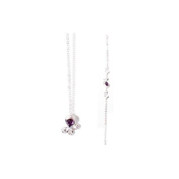 Set náhrdelník a náramek Swarovski Elements Tear Violet