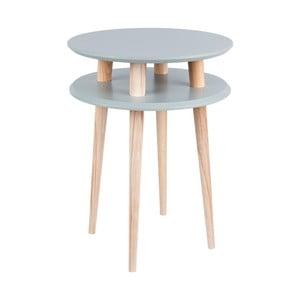Tmavě šedý konferenční stolek Ragaba UFO,Ø45 cm