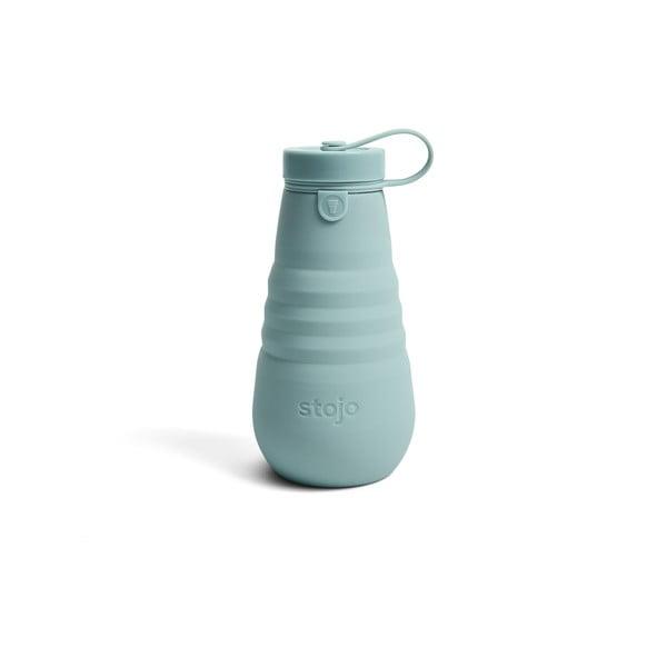 Modrá skládací láhev Stojo Bottle Aquamarine, 590 ml
