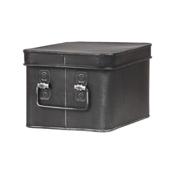 Cutie metalică pentru depozitare LABEL51 Media, lățime 22cm, negru