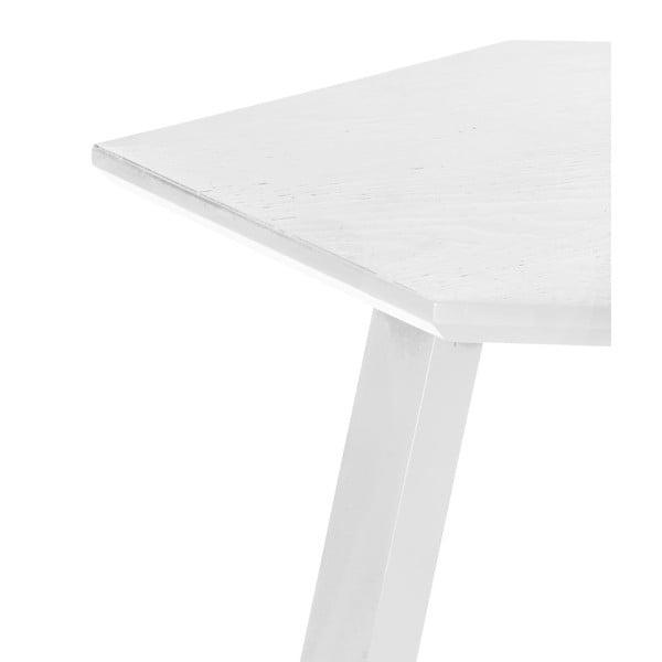 Konferenční stolek Hexagon Pearl White, 47x37x47 cm