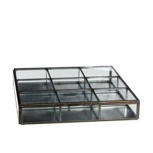 Skleněná krabička Grazia, 23x23 cm