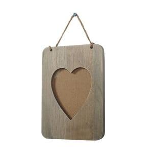 Dřevěný fotorám Mendler Shabby Heart