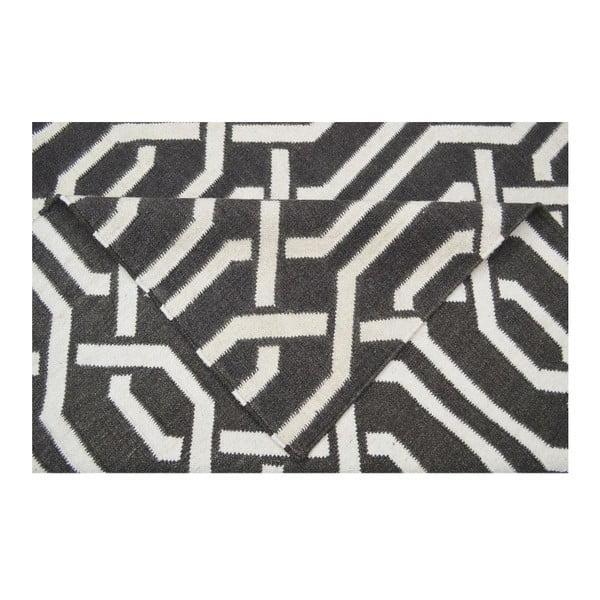 Vlněný koberec Camila Dark Grey, 140x200 cm