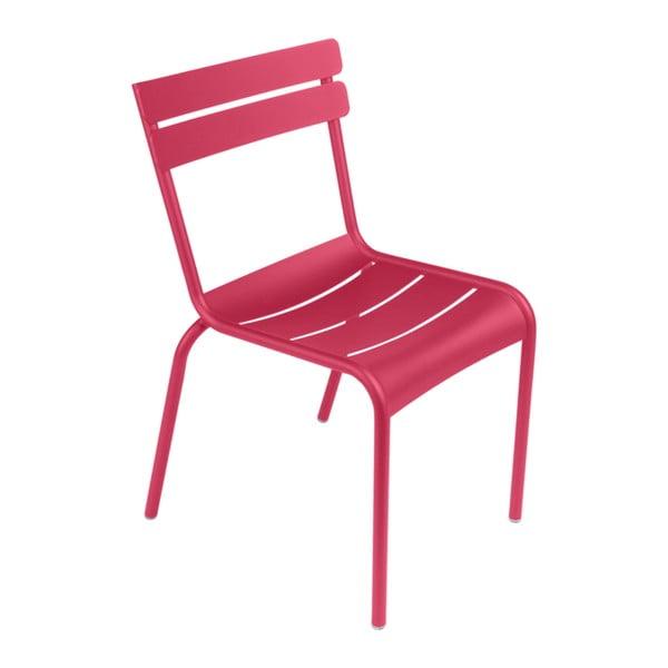 Růžová zahradní židle Fermob Luxembourg