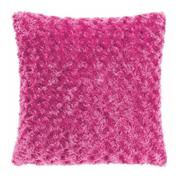 Curl sötét rózsaszín párnahuzat, 45 x 45 cm - Tiseco Home Studio