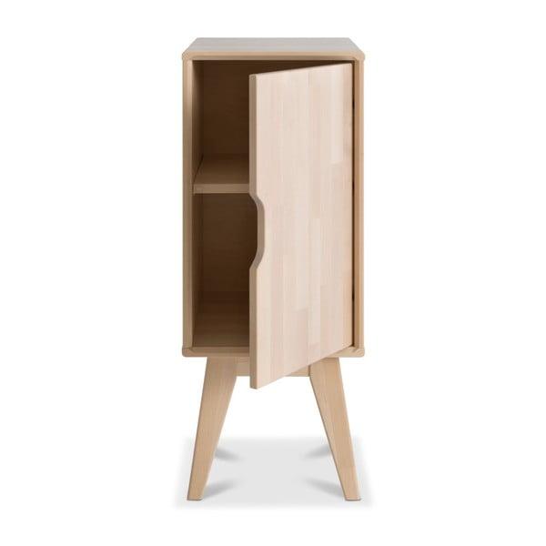 Ručně vyráběný noční stolek z masivního březového dřeva Kiteen Kolo