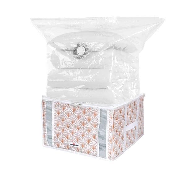 Różowy pojemnik próżniowy na ubrania Compactor Signature Blush 3D Vacuum Bag, 125 l