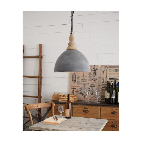 Szara lampa sufitowa Milano Old Factory, ø 41 cm