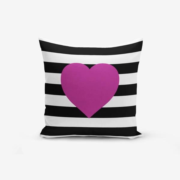 Poszewka na poduszkę z domieszką bawełny Minimalist Cushion Covers Purple, 45x45 cm