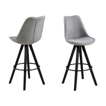 Set 2 scaune de bar Actona Damia, gri de la Actona