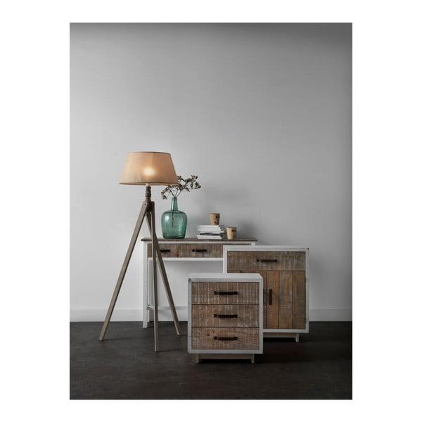 Bílý noční stolek se 2 zásuvkami Geese Rustic