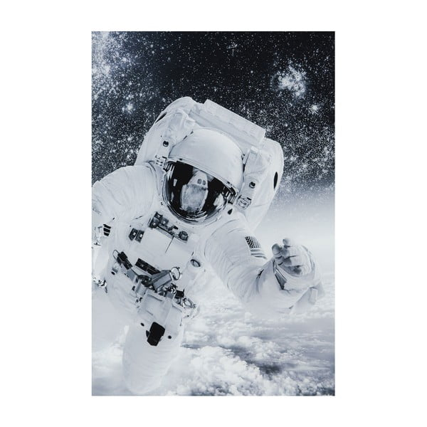Tablou Kare Design Glass Man in the Sky, 150 x 100 cm, alb - negru