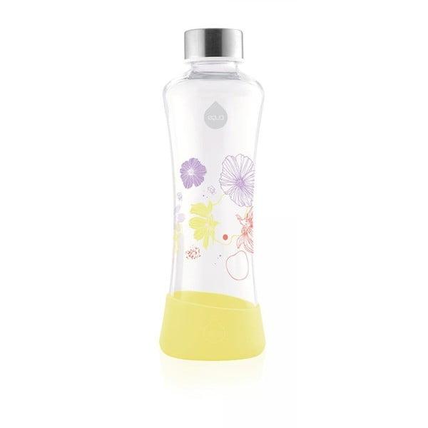 Žlutá skleněná láhev Equa Flowerhead Daisy, 550ml