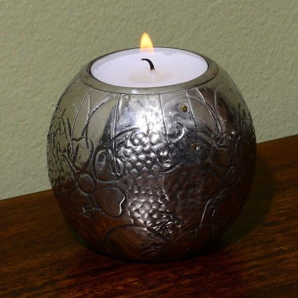 Ručně tepaný svícen Indie, 7 cm