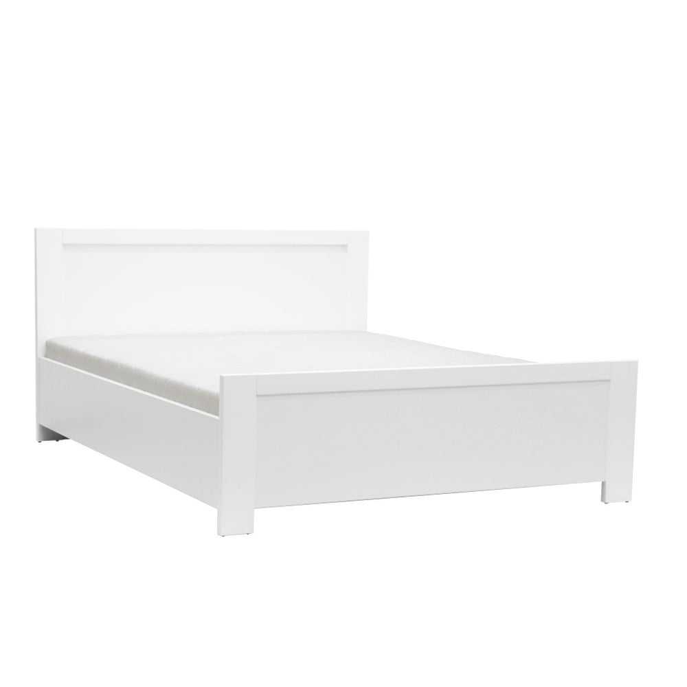 Bílá dvoulůžková postel Mazzini Beds Sleep, 140 x 200 cm