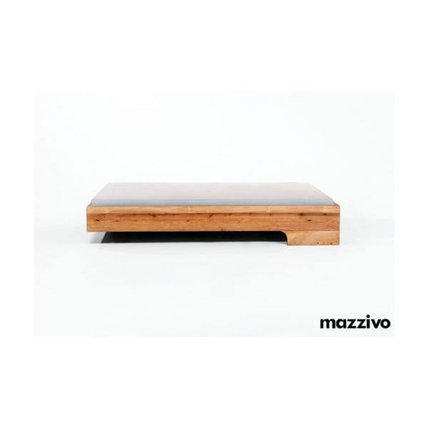 Postel Loop z olšového dřeva, 200x200 cm, bezbarvý vosk