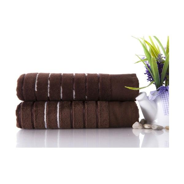 Set dvou ručníků Sport Brown, 50x90 cm