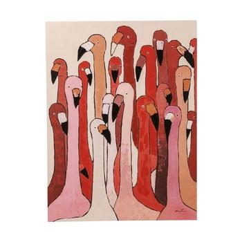 Tablou Kare Design Flamingo Meeting, 120 x 90 cm