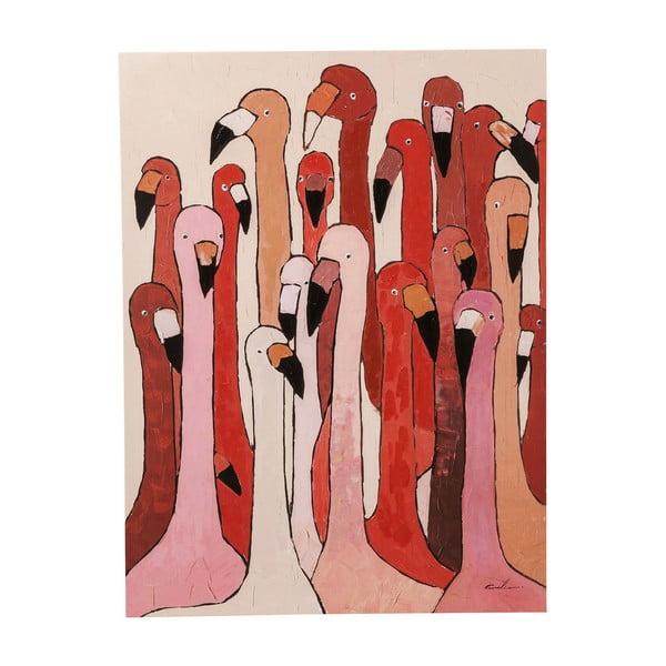 Obraz Kare Design Flamingo Meeting, 120x90cm