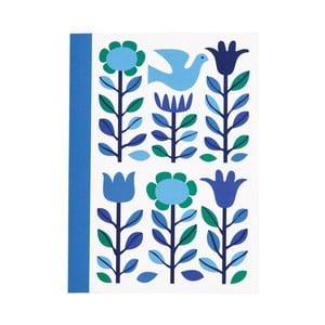 Modrý zápisník Rex London Folk Dove, formát A6