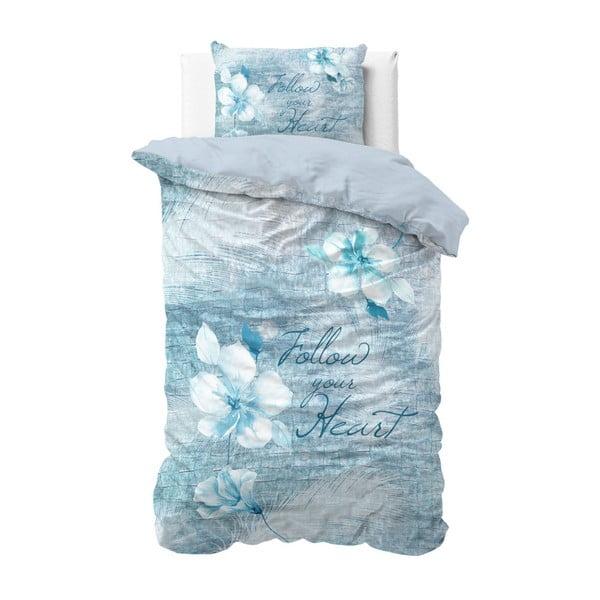 Bavlněné povlečení na jednolůžko Sleeptime Flowerina, 140 x 220 cm
