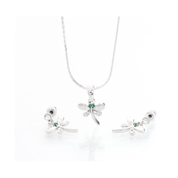 Set náhrdelníku a náušnic s krystaly Swarovski Elements Laura Bruni Martine