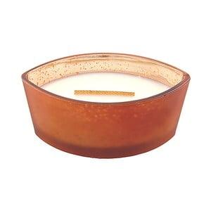 Svíčka s vůní dýně a hřejivého koření WoodWick Matte Máslová dýně, dobahoření80hodin