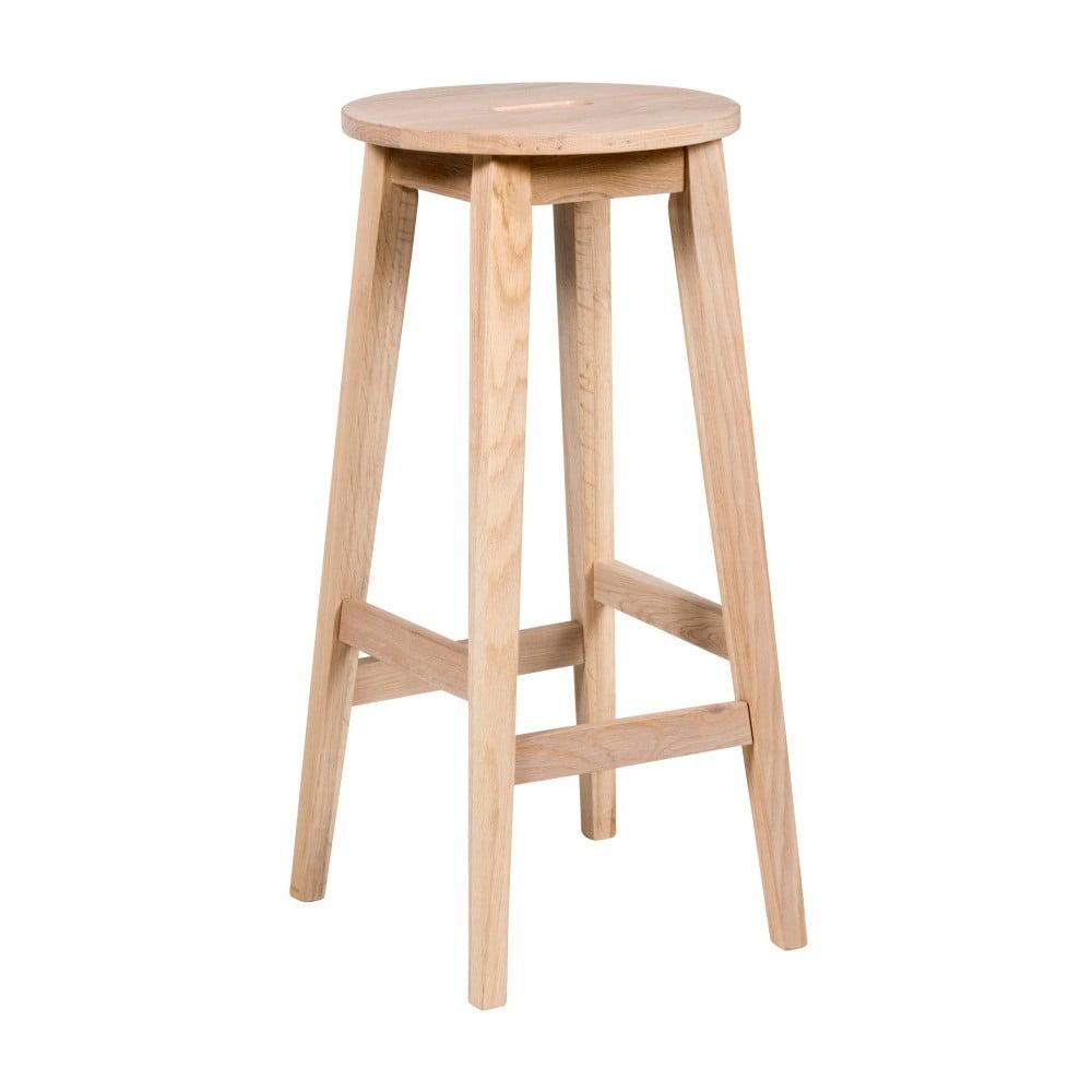 Matně lakovaná barová stolička z dubového dřeva Folke Frigg