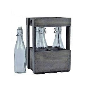 Dřevěná přepravka s lahvemi EgoDekor