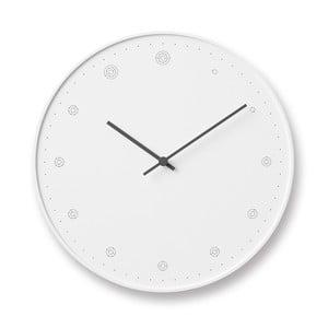 Bílé nástěnné hodiny Lemnos Clock Molecule,⌀29cm