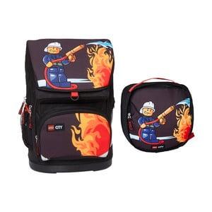 Velký školní batoh s taštičkou LEGO® City Fire