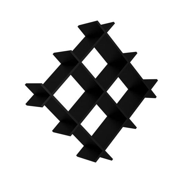 Černá nástěnná police Farley, šířka 75 cm