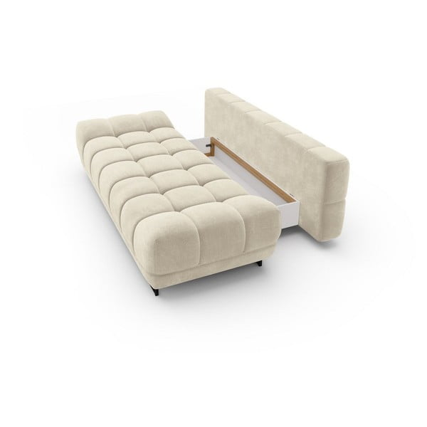 Canapea extensibilă cu înveliș de catifea cu 3 locuri Windsor & Co Sofas Cirrus, bej