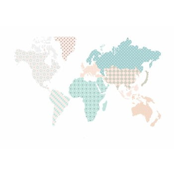 Autocolant pentru perete Dekornik Map Pastel 180 x 107 cm