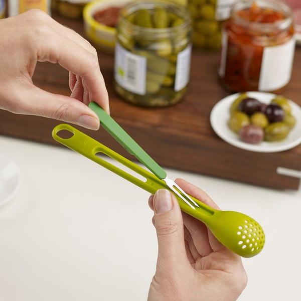 Lingură perforată Joseph Joseph Scoop&Pick, verde