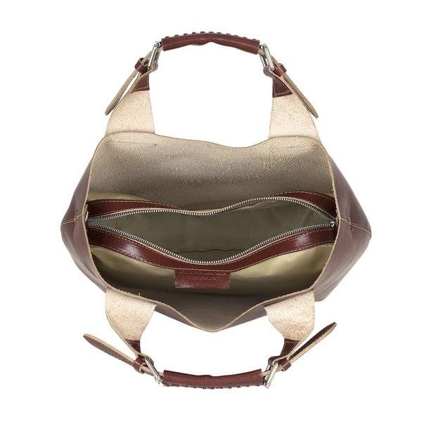 Kožená kabelka Everyday Italia, hnědá