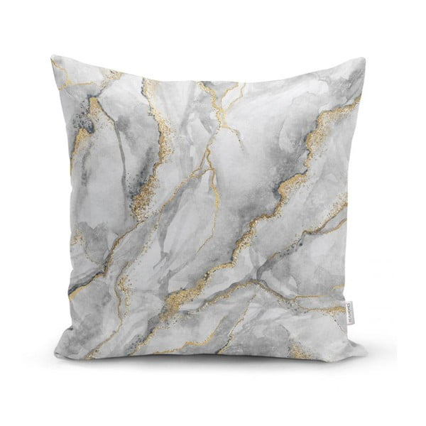 Povlak na polštář Minimalist Cushion Covers Marble With Hint Of Gold, 45 x 45 cm